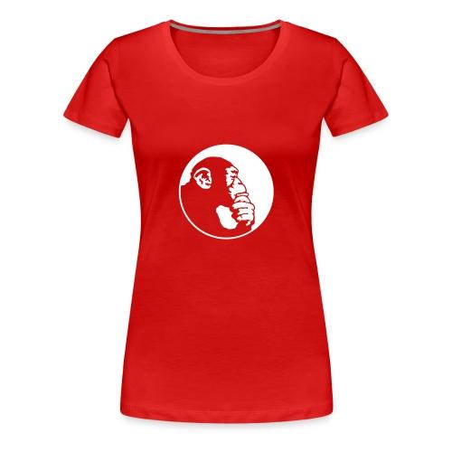 Chimpanzee (Tier Shirt) - Frauen Premium T-Shirt