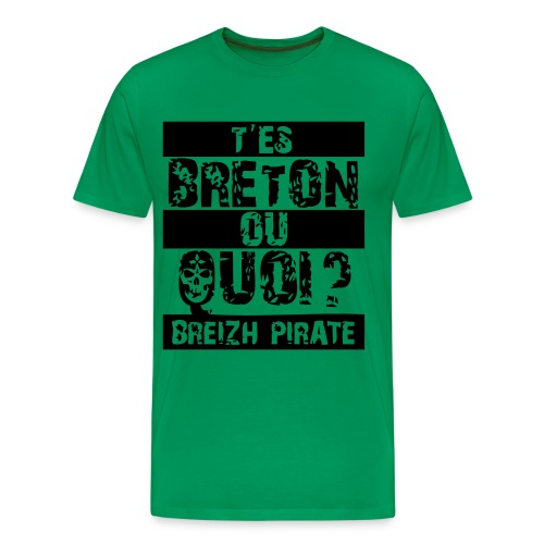 tee shirt tes breton ou quoi breizh pirate - T-shirt Premium Homme