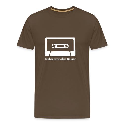 Kasette - Ach früher... (Musik Shirt) - Männer Premium T-Shirt