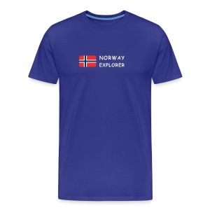 Classic T-Shirt NORWAY EXPLORER white-lettered - Men's Premium T-Shirt