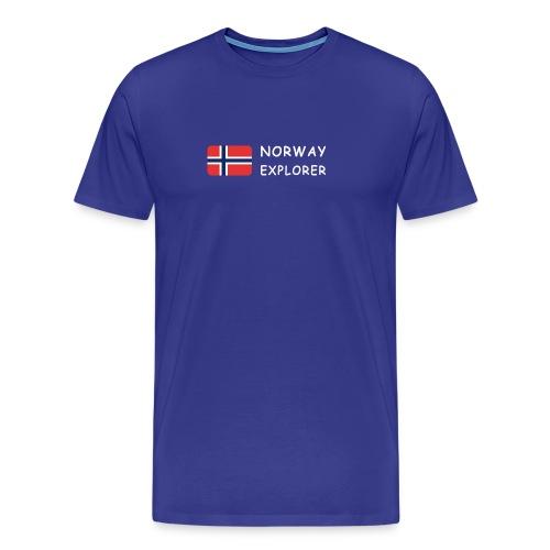 Classic T-Shirt NORWAY EXPLORER white-lettered - Men's Premium T-Shirt