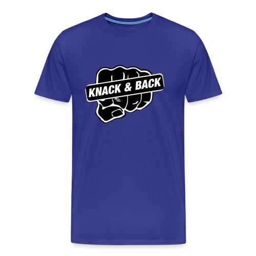 knack & back / BlackWhite Flock - Männer Premium T-Shirt