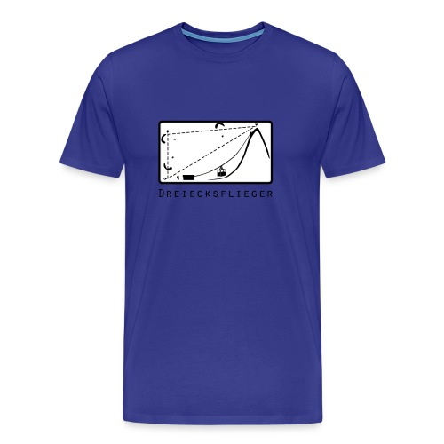 Dreiecksflieger Blau - Männer Premium T-Shirt