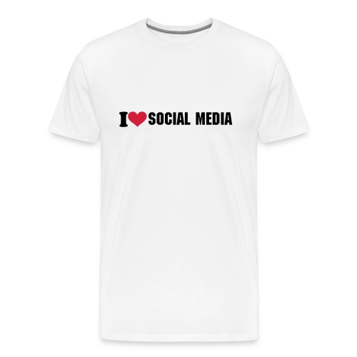 I love SOCIAL MEDIA - Männer Premium T-Shirt