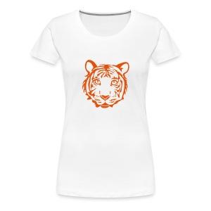 shirt tiger katze löwe puma lion cougar cat zoo wild tiershirt shirt tiermotiv tigermotiv party - Frauen Premium T-Shirt