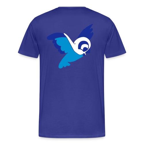 Blue Bird Man - Männer Premium T-Shirt