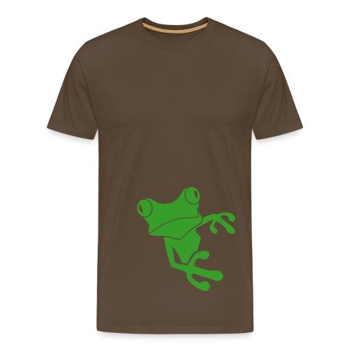 Shirt Frosch frog KröteLurch amphib unke prinz quak funshirt Tiershirt Shirt Tiermotiv - Männer Premium T-Shirt