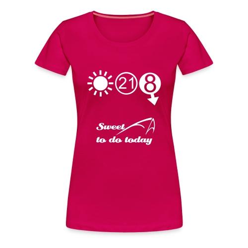 Women's Classic T - Sweet FA white print - Women's Premium T-Shirt