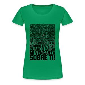 Pulp Fiction: Ezequiel 25:17 - Camiseta premium mujer