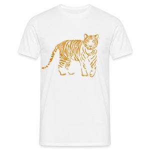 shirt tiger raubtier katze löwe puma lion cougar cat zoo wild tiershirt shirt tiermotiv tigermotiv party - Männer T-Shirt