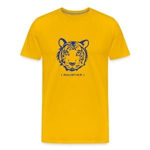 shirt tiger raubtier katze löwe puma lion cougar cat zoo wild tiershirt shirt tiermotiv tigermotiv party - Männer Premium T-Shirt