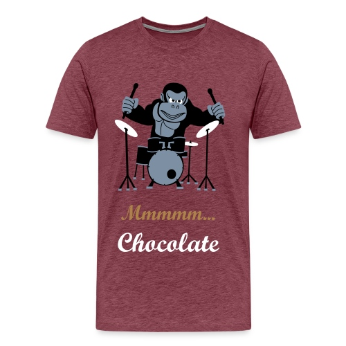 Gorillas love chocolate - Men's Premium T-Shirt