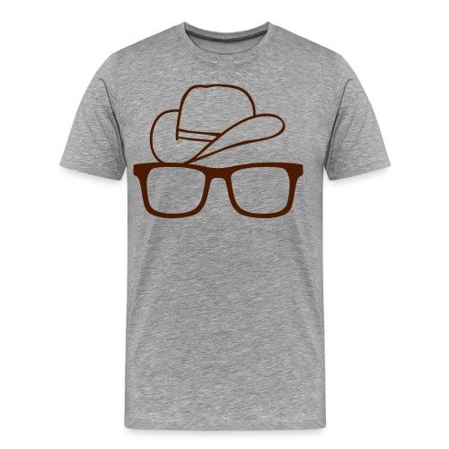 Hat glasses - Premium-T-shirt herr