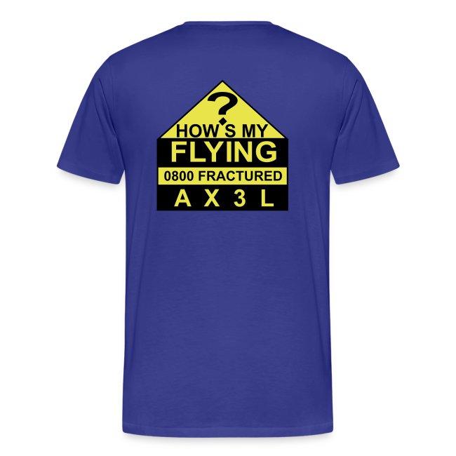How's My Flying - men's blue T