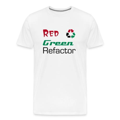 Red Green Refactor (without badge) - Men's Premium T-Shirt