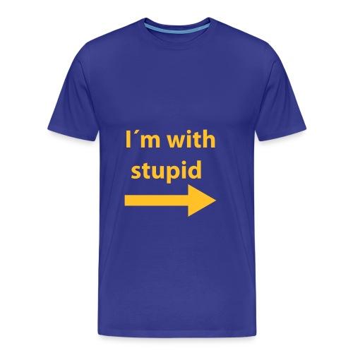 im with stupid - Premium T-skjorte for menn
