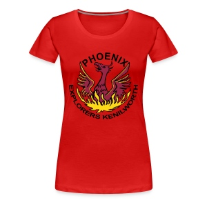 Girls' red shirt, coloured logo - Women's Premium T-Shirt