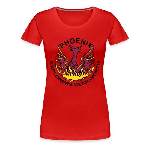 Girls' red shirt, coloured logo - Women's Premium T-Shirt