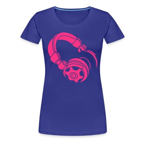 Headphone - Girly - Women's Premium T-Shirt