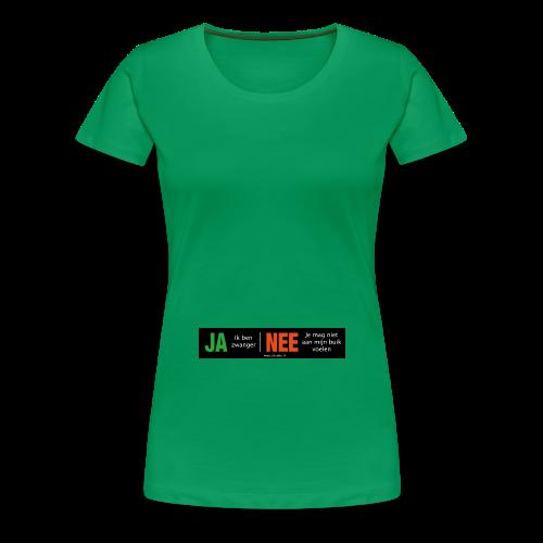 Ja-Nee, zwanger - Vrouwen Premium T-shirt
