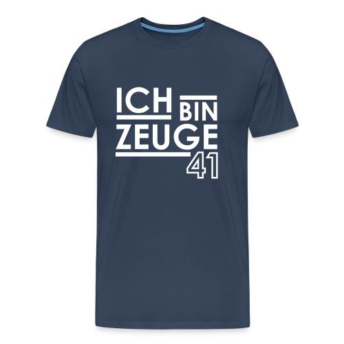 Nowitzki Zeuge Shirt royalblue/white MEN - Männer Premium T-Shirt