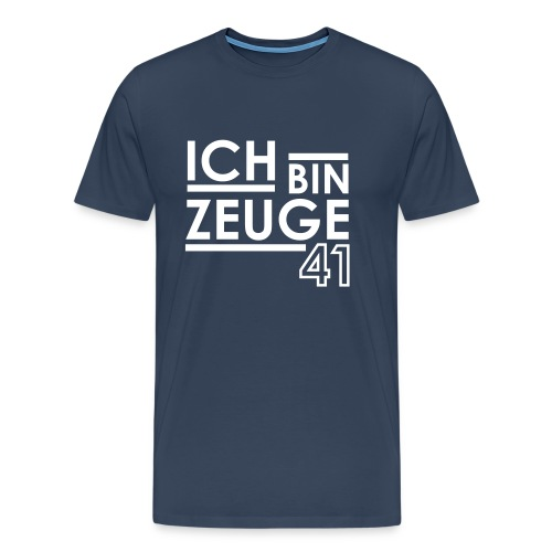 Nowitzki Zeuge Shirt royalblue/white MEN - Männer Premium T-Shirt