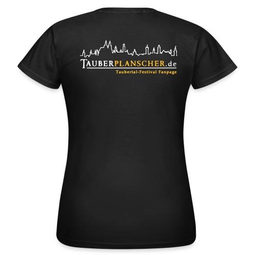 Damen-T-Shirt (Logo weiß-gelb) - Frauen T-Shirt