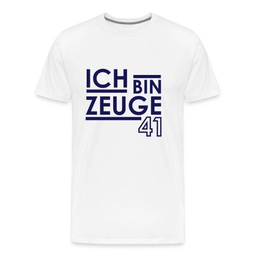 Nowitzki Zeuge Shirt white/royalblue MEN - Männer Premium T-Shirt