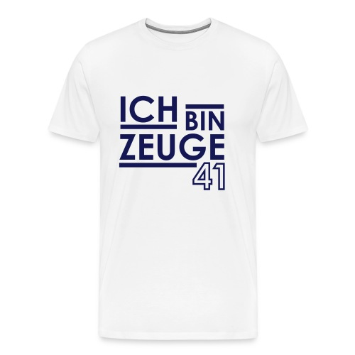 Nowitzki Zeuge Shirt white/royalblue MEN - Männer Premium T-Shirt