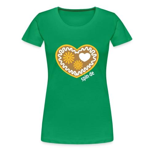 Lebkuchenherz Shirt Girl - Frauen Premium T-Shirt