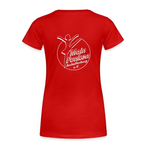 Frauen Girlieshirt mit Rückendruck Mainfunken-Logo - Frauen Premium T-Shirt