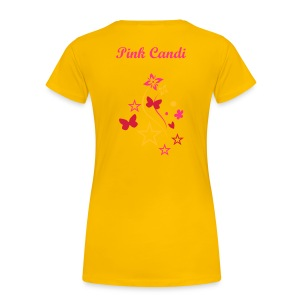 Pink Candi Butterfly And Stars T-Shirt - Women's Premium T-Shirt