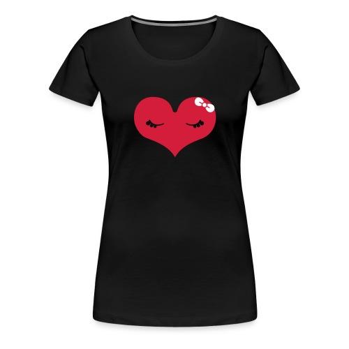 Herzchen... - Frauen Premium T-Shirt