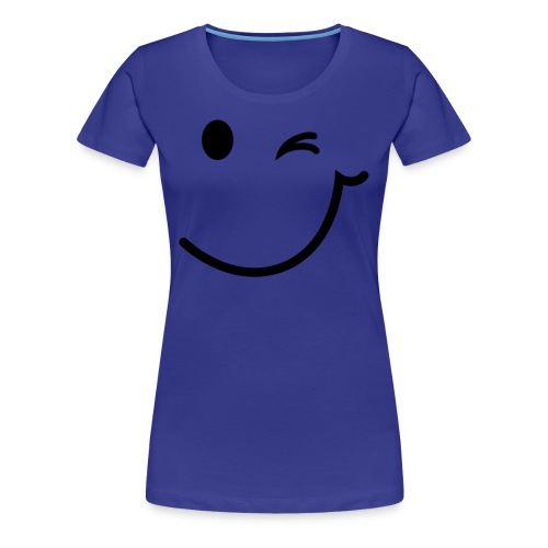 Smiley türkis - Frauen Premium T-Shirt