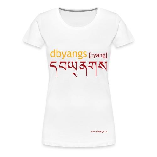 dbyangs Damen T-Shirt - weiß Übergröße - Frauen Premium T-Shirt