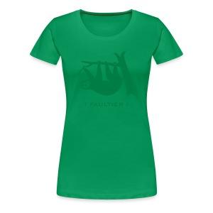 Girlie Shirt Faultier Tiermotiv Tiershirt faul Tier - Frauen Premium T-Shirt