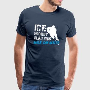 Ice Hockey Players Walk on Water T-Shirts - Men's Premium T-Shirt