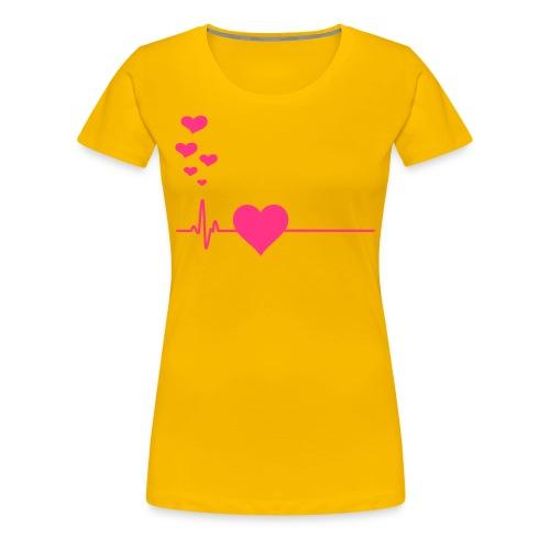 feel my heartbeat - Vrouwen Premium T-shirt
