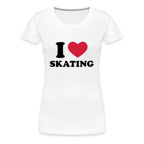 i LOVE SKATiNG WOMEN - Frauen Premium T-Shirt