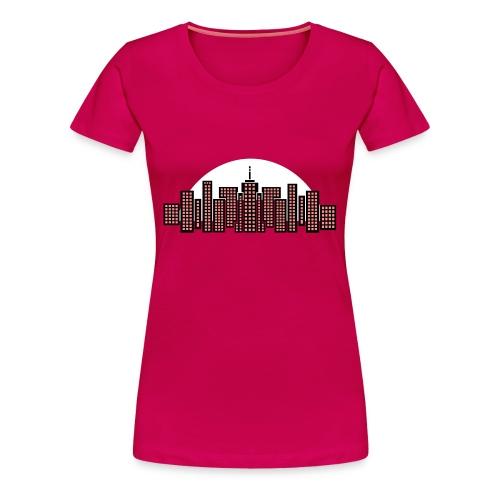 Cityscape Tee Women's (Hot Pink) - Women's Premium T-Shirt
