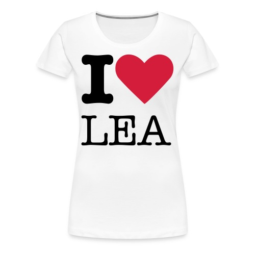 I LOVE LEA - White - Women's Premium T-Shirt