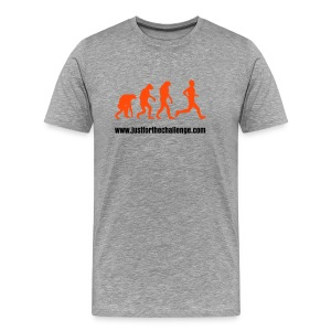Evolution of a Runner (Front Print) - Men's Premium T-Shirt