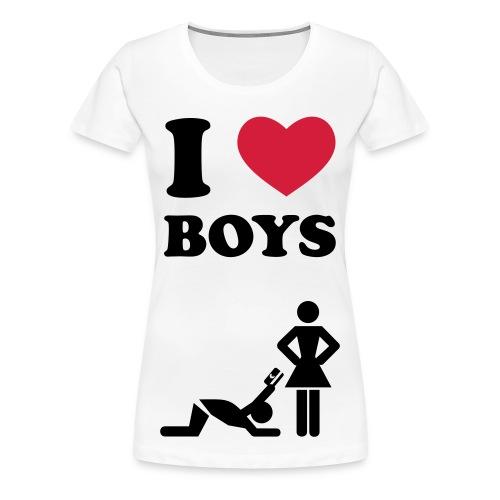 I Love Boys - Frauen Premium T-Shirt