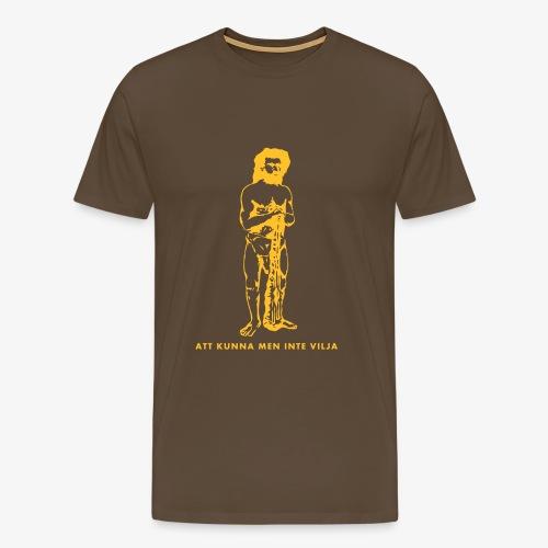 T-shirt herr med tryck fram. - Premium-T-shirt herr
