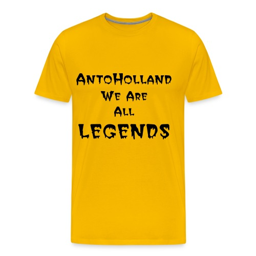 AntoHolland T-shirt Yellow Printed - Men's Premium T-Shirt