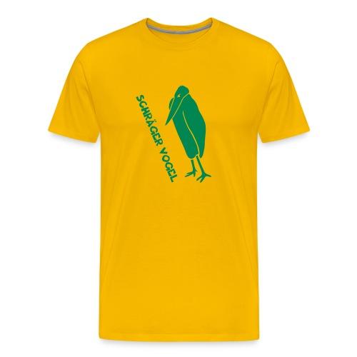 t-shirt schräger vogel witz humor komisch flügel feder tiershirt t-shirt tier - Männer Premium T-Shirt