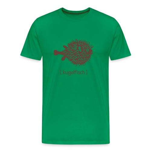 t-shirt kugelfisch blowfish fisch angler schwanger bauch bierbauch mutter mama baby inside tiershirt t-shirt tier - Männer Premium T-Shirt