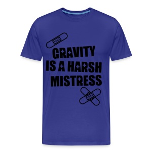gravity is a harsh mistress logo Tee - Men's Premium T-Shirt