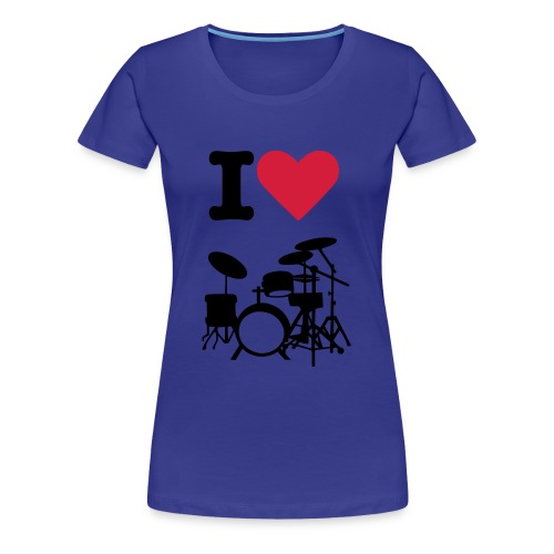I hart drummers - Women's Premium T-Shirt