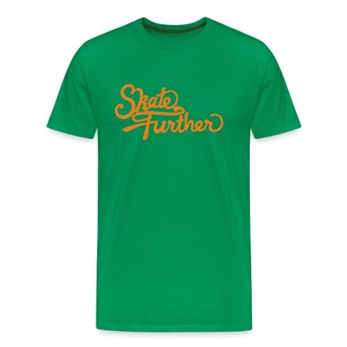 Skate Further Logo Orange - Men's Premium T-Shirt